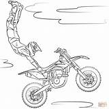 Pages Colouring Scooter Stunt Motocross Coloring Freestyle Trending Days Last sketch template