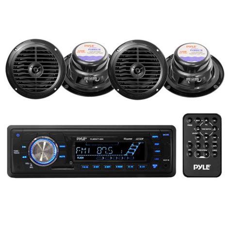Pyle Boat Stereo Reviews by Pyle Plmrkt14bk Marine Boat Stereo Sd Mp3 Usb Stereo 6 5