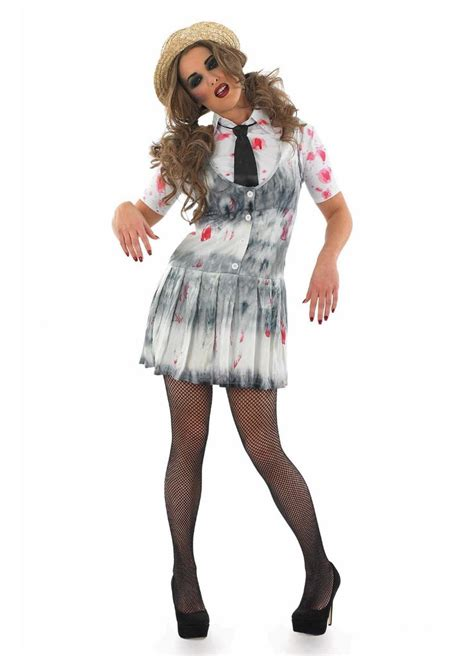 zombie school girl costume adult party britain