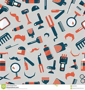 Barber Shop Seamless Pattern Stock Vector - Image: 50255652