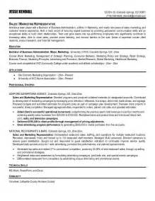 Free Resume Sle For Sales Representative by Sle Resumetelesales Executive 28 Images Doc Telemarketing Resume Description Experienced