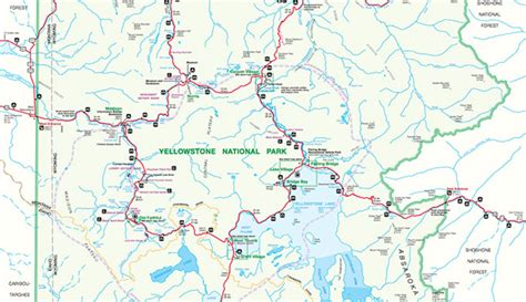 official yellowstone national park map