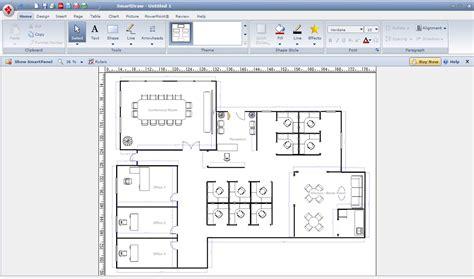 draw a floor plan digital smart draw floor plan with smartdraw software