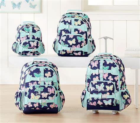 mackenzie navy butterfly backpack pottery barn