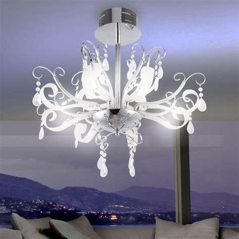 design wohnzimmer kronleuchter chrom kristall haengelampe