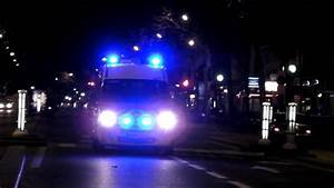 Paris Ambulance Responding  Bright Led Lights