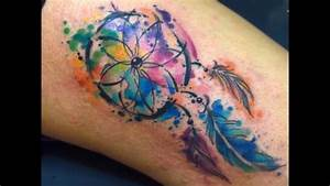 Javi Wolf Watercolor Tattoo Tatuajes para Mujeres - YouTube