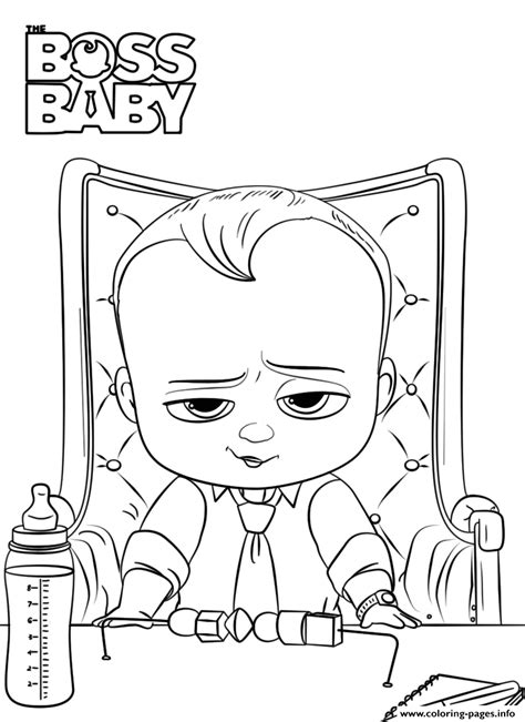 boss baby    boss president coloring pages printable