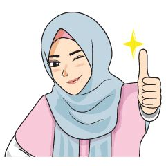 gorgeous hijab girl  animated sachet stiker