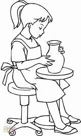Coloring Pottery Disney Craftedhere sketch template