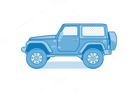 cartoon jeep front vector jeep willys designtube creative design content
