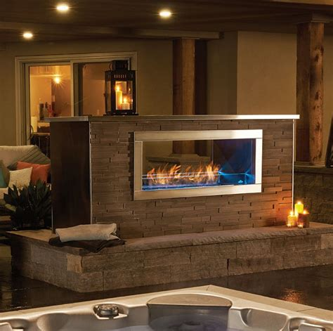 napoleon galaxy   outdoor gas fireplace fireplace