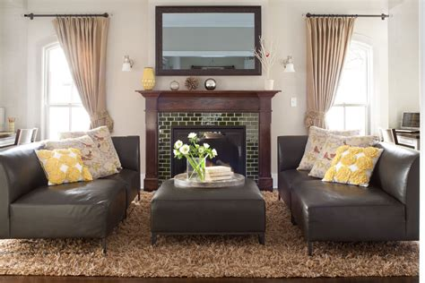 Decorating Ideas Next To Fireplace by Baroque Flokati In Living Room Traditional With Tv In