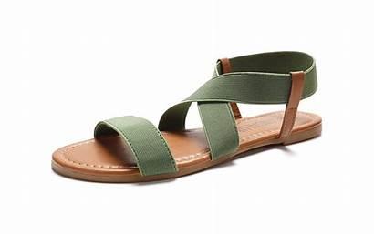 Sandals Comfortable Elastic Flat Comfy Strap Travelandleisure
