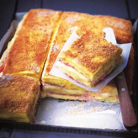 pate a crepe croque menu croque monsieur de polenta jambon fromage d eric fr 233 chon