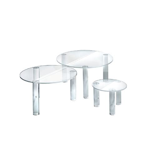 table top display risers round acrylic risers display table top display risers