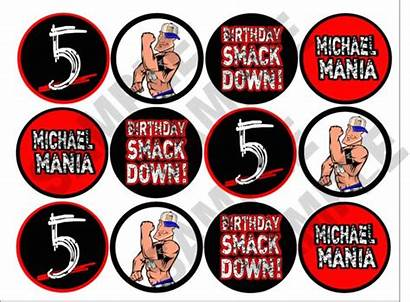 Wwe Printable Wrestling Party Toppers Cupcake Games