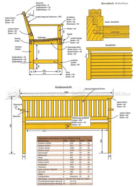 outdoor wood bench plans woodarchivist