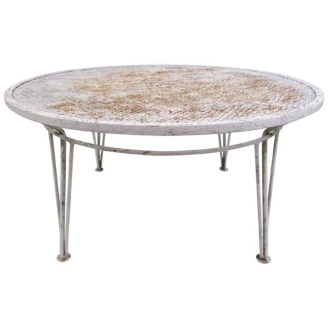 mid century modern salterini style patio coffee table for