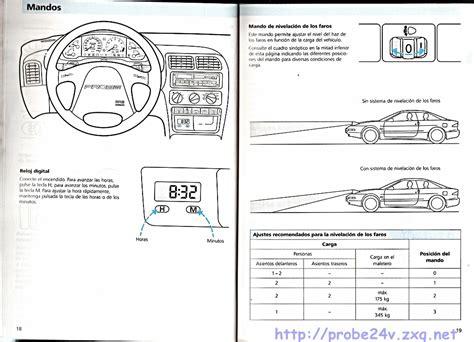 online car repair manuals free 1994 ford probe user handbook 1994 ford probe user manual