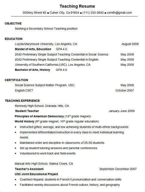 Teaching Resume Format In Word by Best Resume Formats 40 Free Sles Exles Format Free Premium Templates