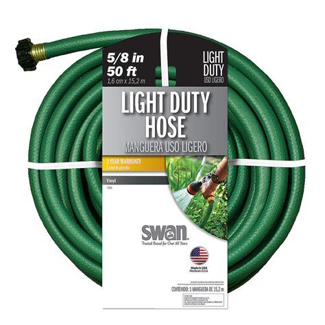 lowes garden hose shop swan 5 8 in x 50 ft light duty garden hose at lowes