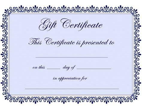 certificate templates gift certificate template