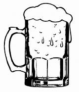 Beer Coloring Glass Clipart Cold Mug Clip Mugs Stein Glasses Drawing Getdrawings Case Place Funny Button Using sketch template