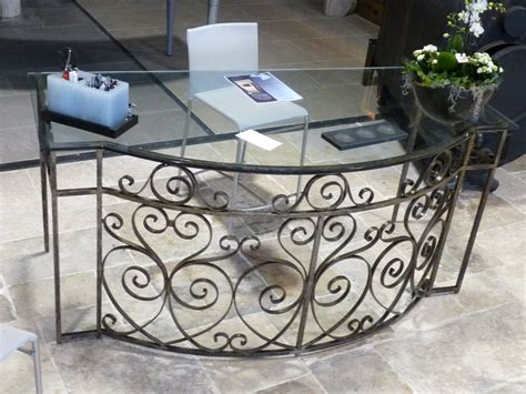 table bureau verre antique balcony railings converted to glass top desk