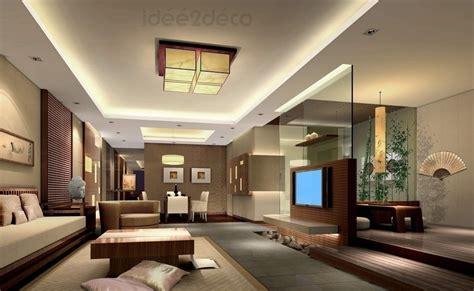 une déco de salon moderne ambiance asiatique