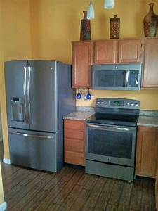 My kitchen with GE slate appliances