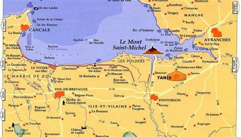 Carte Touristique Baie Du Mont Michel mont michel carte et plan 187 vacances arts guides