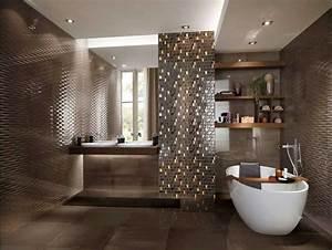 Muster Badezimmer Fliesen : sch ner wohnen badezimmer fliesen mit mosaik muster in braun hochglanz dekor ~ Sanjose-hotels-ca.com Haus und Dekorationen
