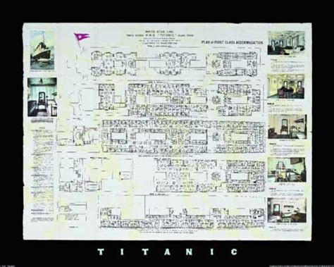 Titanic Deck Plans Discovery by Titanic Deck Plans Poster