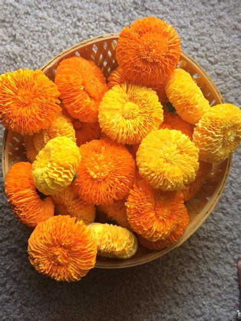 marigold flower  crepe paper sewing pinterest