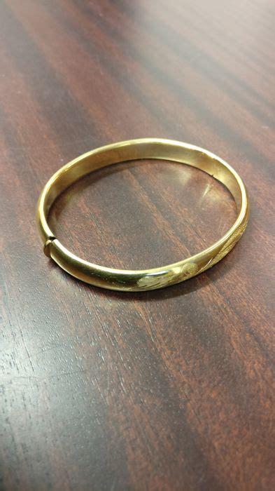 bracciale rigido lavorato in oro giallo 18kt quot senza prezzo di riserva quot catawiki
