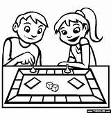 Coloring Board Pages Games Clipart Gaming Toys Drawing Playing Line Swing Printable Cliparts Colouring Clip Sheets Drawings sketch template