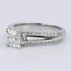 Split Shank Cushion Engagement Ring  1 01 Ct
