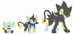 Shinx, Luxio and Luxray Base by SelenaEde on DeviantArt