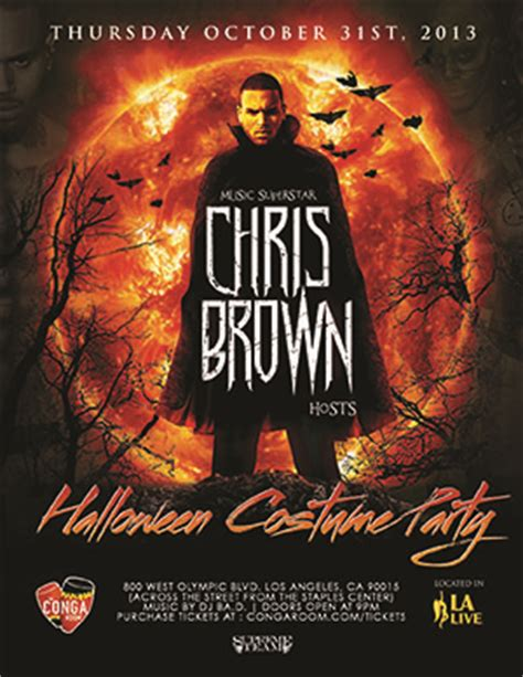 chris brown halloween event at conga room cancelled l a