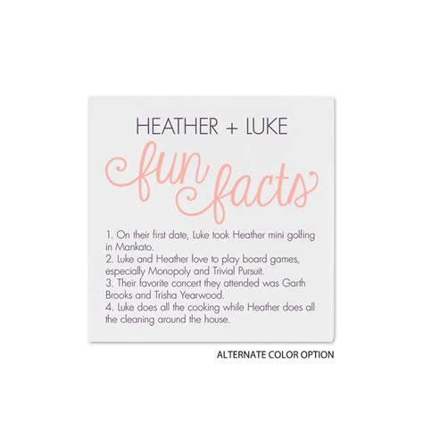 fun facts cocktail napkin invitations  dawn