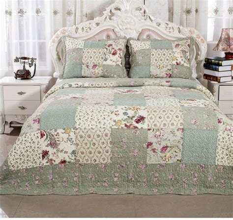 Coverlet For Bed by 100 Cotton Roses Bedding Quilt Bedspread Coverlet