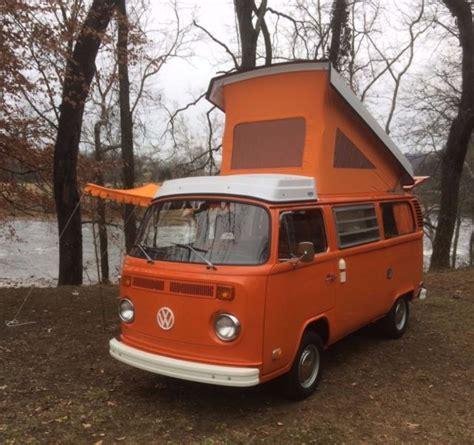 orange volkswagen van 1975 volkswagen westfalia fully restored brilliant