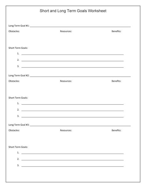 70 effective goal setting worksheets kittybabylove com