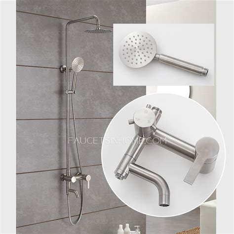 outdoor shower faucets quality stainless steel brushed nickel outdoor shower faucets