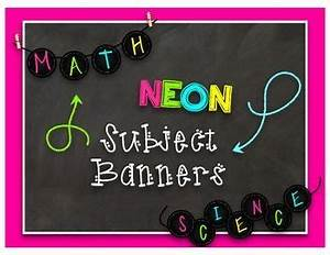 These are fun Neon Chalkboard themed banners that you can