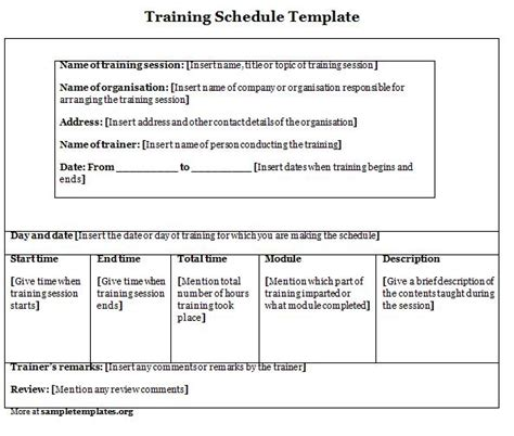 Training Module Template Exle by Agenda Template Category Page 1 Efoza