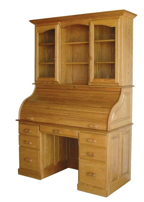 Office Hutch by Amish Rolltop Desk Hutch Home Office Furniture Solid Wood