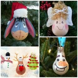 creative christmas light bulb ornaments crafty morning