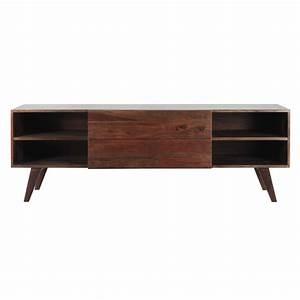 Meuble Tv 160 Cm : meuble tv vintage en bois de sheesham massif l 160 cm soho maisons du monde ~ Teatrodelosmanantiales.com Idées de Décoration
